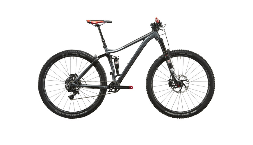"VOTEC VX Pro Touren/Trail Fullsuspension MTB Fully 29"" grå/sort"
